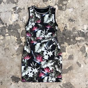 Topshop Tropical Floral Print Bodycon Dress